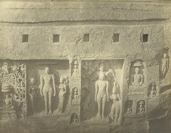 Rock-cut Jain sculptures and inscriptions, Kallugumalai, Tinnevelly District